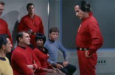 James Doohan, Nichelle Nichols, DeForest Kelley, and Ricardo Montalban in Space Seed