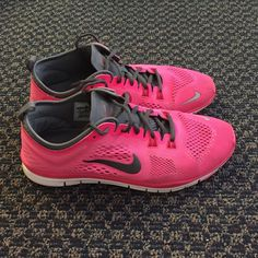 Nike Free 5.0 Like new condition! Bright/neon pink Nike Free 5.0. Only worn a couple of times! I love these but they are just too small for me Nike Shoes Athletic Shoes