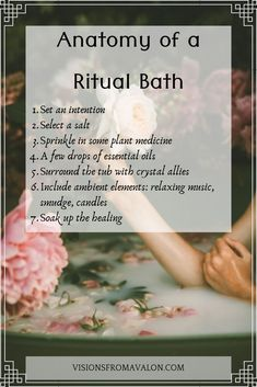 full moon bath ritual What is your favorite form of self care? Nothing puts me in a more tranquil state of mind than a bath. How can you elevate this experience to transcendental l Spiritual Bath, Spiritual Cleansing, Aura Cleansing, New Moon Rituals, Full Moon Ritual, Ayurveda, Savon Soap, Bath Recipes, Relaxing Music