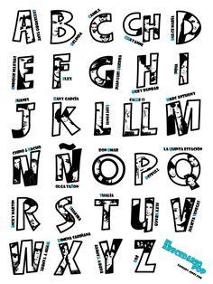 El abecedario pop