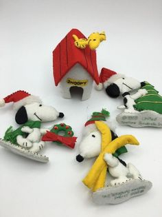 Holiday crafts! These Felt Snoopy Christmas Ornaments are listed on eBay for $50. How much would a collector REALLY pay for them? Find out at CollectPeanuts.com.