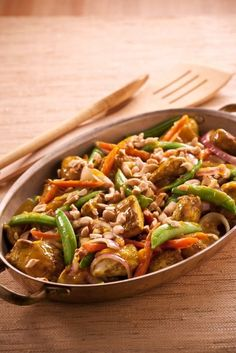 Cashew Chicken Curry Stir-Fry from Eat More of What You Love (giveaway!)