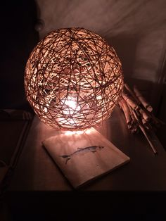 My first DIY light shade , amazing ...