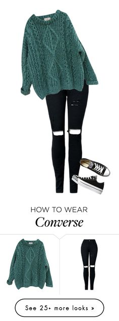"""""""Basic winter day"""" by fashionstudio101 on Polyvore featuring Essentiel and Converse"""