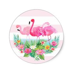Shop Tropical Flamingo Watercolor Pink Favor Sticker created by PinkHousePress.New Wedding Beach Hawaii Palm Trees 56 Ideaselegant wedding favors Get great deals now Flamingo Party, Flamingo Birthday, Flamingo Wallpaper, Beach Wedding Favors, Destination Wedding, Tropical Party, Pink Flamingos, Custom Stickers, Invitations
