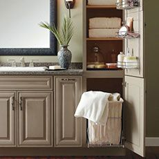 Built In Laundry Hamper Your Bath Cabinets Bathroom Storage Organization