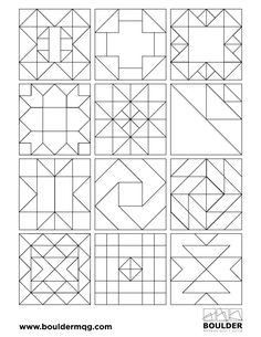 Introducing the Boulder Modern Quilt Guild Block of the Month Challenge Barn Quilt Designs, Barn Quilt Patterns, Pattern Blocks, Quilting Designs, Graph Paper Art, Pattern Paper, Pattern Art, Blackwork, Painted Barn Quilts