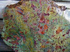 Huge Slab of Kaleidoscope Agate Jasper Mixed 2016 Digs