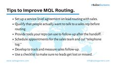 7 Tips to Improve MQL Routing. Service Level Agreement, Process Flow, Growth Hacking, New Year 2020, Business News, Lead Generation, Marketing, Thoughts, Writing