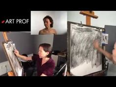 Art Prof, Part 6 of Charcoal Drawing Demo. Art Prof is a free, online educational platform for visual arts created for people of all ages and means. Created by RISD Adjunct Professor Clara Lieu and Thomas Lerra. Hatch Drawing, Learn Art, Art Classroom, Drawing Techniques, Visual Arts, Easy Drawings, Art Education, Art Tutorials, Painting & Drawing