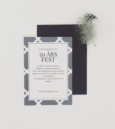 Dags att fylla jämt? Inbjudningskort till festen. #tryckstudion #inbjudningskort fest #inbjudningskort # fest #inbjudan #50årsfest #festinbjudan