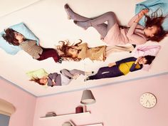 Sleeping on the ceiling!! Quirky looks from British brand No Added Sugar for fall/winter 2014 giirlswear