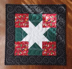 Christmas Star Table Topper Quilted Table Topper Christmas