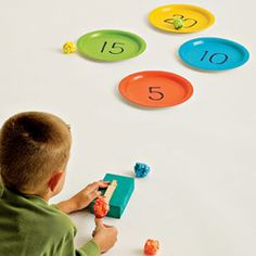 Love this idea of making both math and science into a fun Math Catapult Game! The link to this resources doesn't lead you to directions on how to make this but it looks pretty simple. Let your kiddos be creative with the catapult! Kids Crafts, Craft Activities For Kids, Activity Games, Fun Games, Projects For Kids, Easy Games For Kids, Indoor Activities, Summer Activities, Family Activities