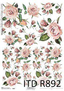 W różanym ogrodzie - papier ryżowy ITD Collection