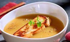 Priživuje sa na vašom internete váš sused? Vďaka tomuto testu, to jednoducho zistíte - Nápady-Návody.sk Garlic Soup, Good Food, Yummy Food, Eat To Live, Lidl, Soups And Stews, Cheeseburger Chowder, Thai Red Curry, A Table