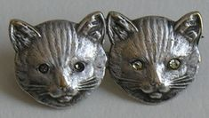 Victorian sterling cat brooch - I would LOVE to find this while antiquing!  Perfect for me!!!!