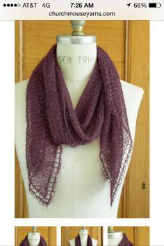 Churchmouse Yarns. Beaded mohair scarf. $5 pattern.  Www.churchmouseyarns.com