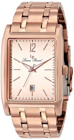 Lucien Piccard Men's LP-91085-RG-99 Taverna Analog Display Japanese Quartz Rose Gold Watch * Click on the watch for additional details.