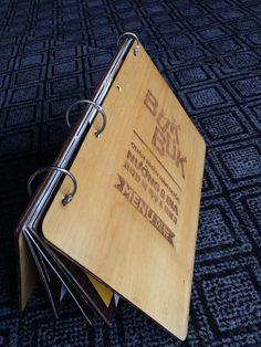 In Menu Nhà hàng trên gỗ độc đáo - Chỉ có tại DDN Printing!