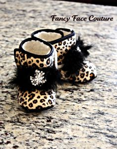 Boutique Leopard Booties with Vintage Crystal by FancyFaceCouture, $19.99