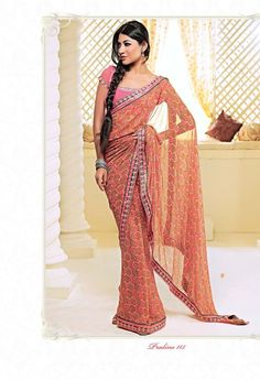 Buy designer printed sarees online at best prices. We have awesome collection of sarees so you can wear in party, wedding and also in any event.