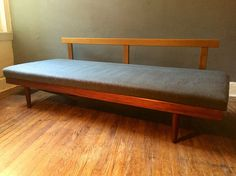 Mid century modern sofa danish modern daybed Adrian Pearsall style sofa eames era milo baughman