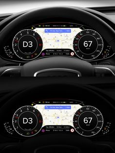 Car Dashboard UI by Michael Dolejš