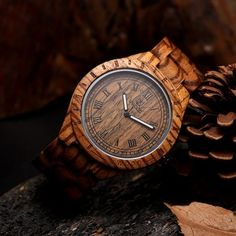2016 Classic Design Wooden Watch with 100% Natural Maple Zebra Sandal Wood Handmade Fashion Automatic Watch For Mens Gifts