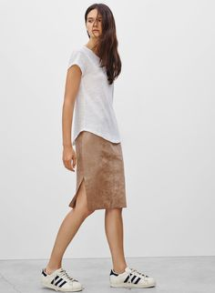 Wilfred Free LIS SKIRT in Camel | Aritzia