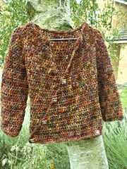 Ravelry: rustic wrap cardi pattern by Katherine Mills