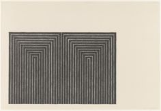 Marriage of Reason and Squalor from Black Series I, 1967  Frank Stella