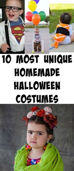 10 most unique homemade halloween costumes. Perfect for making them at home and having a super original design. #diy #halloween #kids Diy Halloween Costumes For Kids, Halloween Snacks, Diy Costumes, Holidays Halloween, Vintage Halloween, Halloween Crafts, Family Halloween, Halloween Party, Halloween Ideas