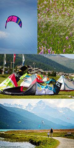 Lake Silvaplana | Switzerland | Kite  Surfing | FamilyFreshCooking.com © MarlaMeridith.com