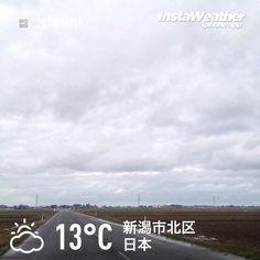 おはようございます! 雲は厚いですが、少しだけ青空も見えてきました〜♪
