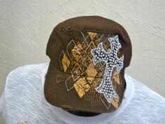 Brown Cross Cap