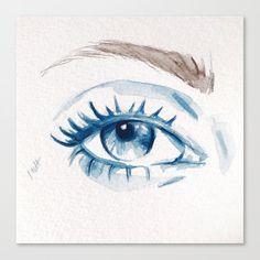 Blue eye Canvas Print by martadehojas Canvas Prints, Art Prints, Persona 5, Eye Art, The Darkest, Eyes, Amnesia, Blue, Watercolors