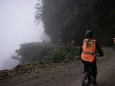 """The Yungas Trail, otherwise known as the """"Death Road"""" in #Bolivia #dangerous #adventure #cliff http://sorryimnotsorryblog.com/that-one-time-i-was-rescued-off-a-mountain-face-by-bolivian-swat/"""