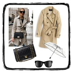 """""""Untitled #197"""" by leonor-morais-vasconcelos on Polyvore featuring J.Crew, Chanel, Totes and rainydayoutfit"""
