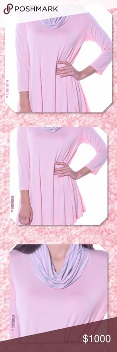 ⭐️⭐️COMING 2-3 DAYS RESERVE YOUR SIZE TODAY⭐️⭐️ New bubble gum pink cowl neck tunic Color: Pink Material: 95% Viscose 5% Spandex Made in USA Fits true to size Sizes Avail: Small, Medium, Large, Xlarge  💠💠PRICE FIRM UNLESS BUNDLED💠💠 ⭐️⭐️SORRY NO TRADES AND LOWBALL OFFERS WILL BE IGNORED ⭐️⭐️ 🌺🌺ADDITIONAL MEASUREMENTS AVAIL UPON REQUEST 🌺🌺 Glam Squad 2 You Tops Tunics