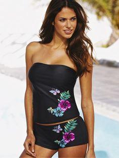 Resort Bandeau Tankini Set with Shorts, http://www.very.co.uk/resort-bandeau-tankini-set-with-shorts/1029900930.prd