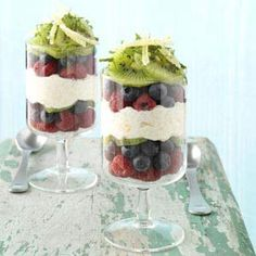 Serve these lively, layered parfaits as a refreshing start to a busy day. You can make the couscous mixture ahead, cover and chill. | Lemon Breakfast Parfaits Recipe from Taste of Home