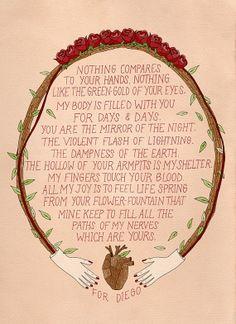 Frida Kahlo Love Letter - Alexis Winter