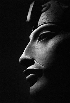 """This is a photograph of a sculpture of Akhenaten (meaning """"living spirit of the Aten""""), the famous Pharaoh of the dynasty of Egypt who ruled for 17 years. Akhenaten is principally famous for his religious reforms, where the polytheism of Egypt was to Ancient Egypt Art, Old Egypt, Ancient Aliens, Ancient History, Egyptian Pharaohs, Egyptian Art, Art Sculpture, Ancient Mysteries, African History"""