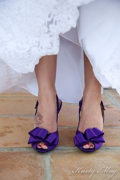 Purple heeled shoes, wedding dress - Found this while seeking Twilight merchandise. Found via kristymay