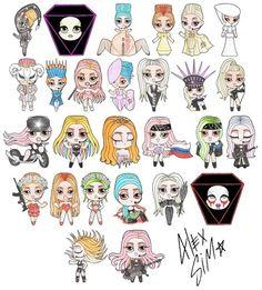 Little gagas Lady Gaga Music, Little Monsters, Grafik Design, Comedians, Creative, Chibi, Geek Stuff, Fan Art, Love