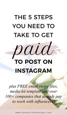 There are a few steps you will need to take if you want to get paid to post on Instagram through becoming an Instagram influencer! Learn exactly what you will need! Plus get access to a free media kit, email swipe files for pitching companies and over 100+ companies that work with bloggers! | Instagram Tips | Influencer | Blogger | Blogging Tips #bloggingtips #blogger #instagrammer