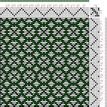 Hand Weaving Draft: Page 121, Figure 19, Donat, Franz Large Book of Textile Patterns, 6S, 6T - Handweaving.net Hand Weaving and Draft Archiv...
