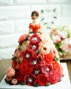 Fairy Birthday Cake, Beautiful Birthday Cakes, Birthday Cake Girls, Beautiful Cakes, Barbie Cake Designs, Bolo Barbie, Barbie Doll, Dolls, Birth Cakes
