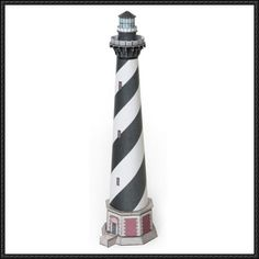 Cape Hatteras Lighthouse Free Building Paper Model Download - http://www.papercraftsquare.com/cape-hatteras-lighthouse-free-building-paper-model-download.html